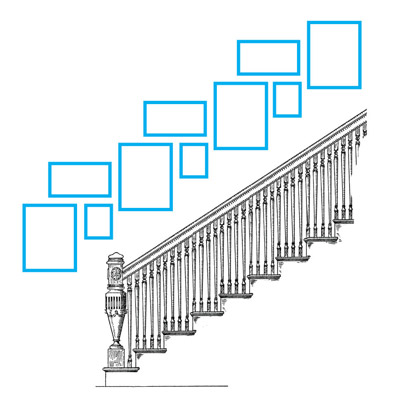 stairway frame grouping