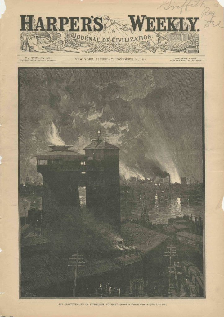 The Blast Furnaces of Pittsburgh at Night